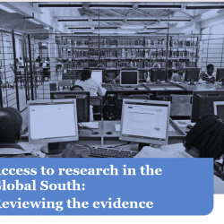 Access to research in the Global South: Reviewing the evidence.