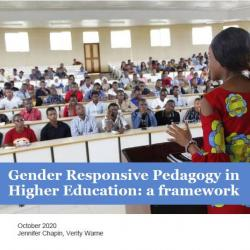 cover shot of gender responsive pedagogy report